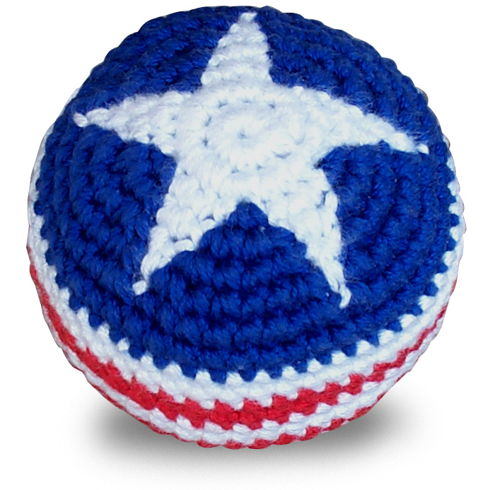 Sipa Sipa Stars And Stripes Hacky Sack Footbag With Free Sticker