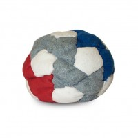 sQuirt footbag red-white-blue-gray