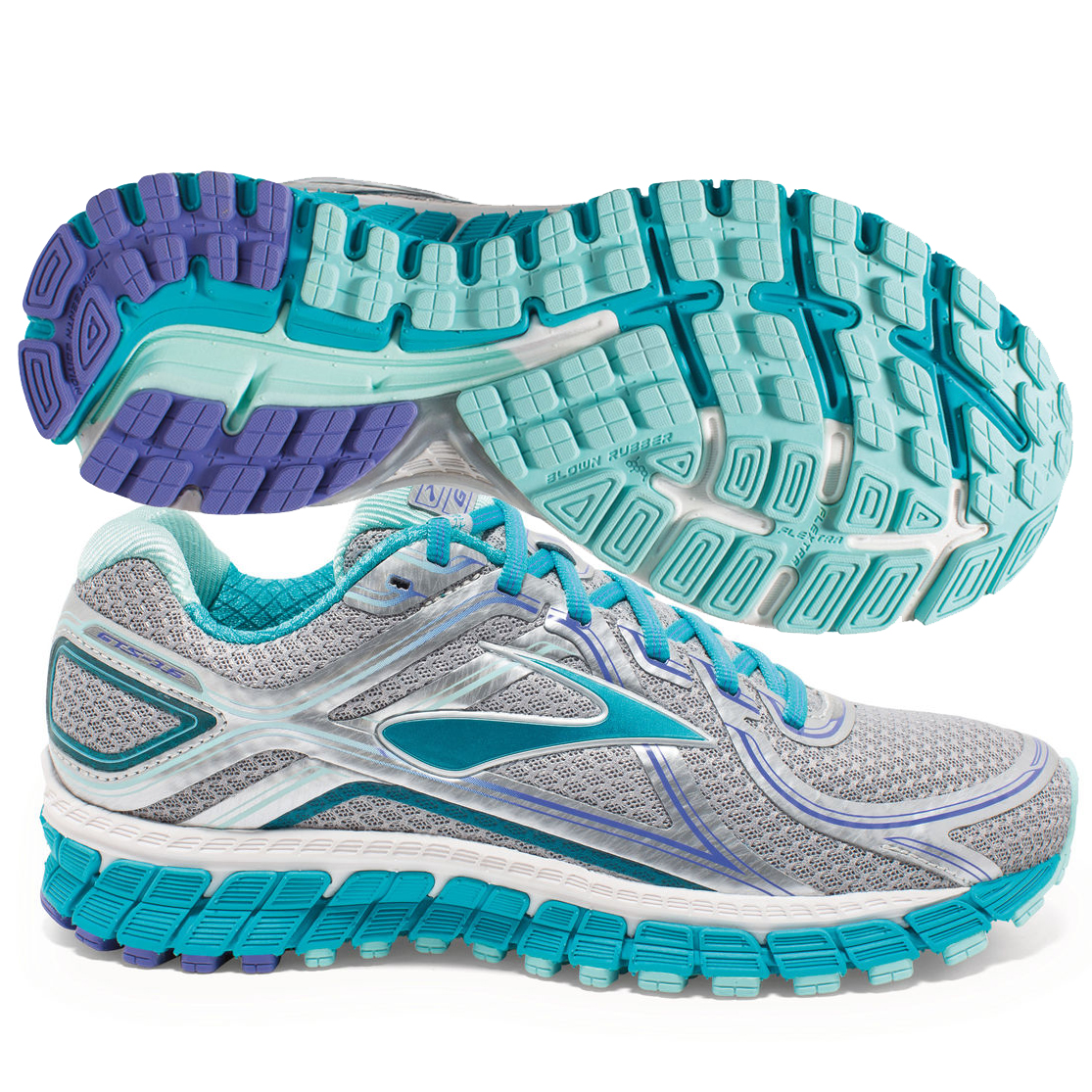 1f4d88267f703 Brooks Adrenaline GTS 16 Womens Silver Bluebird