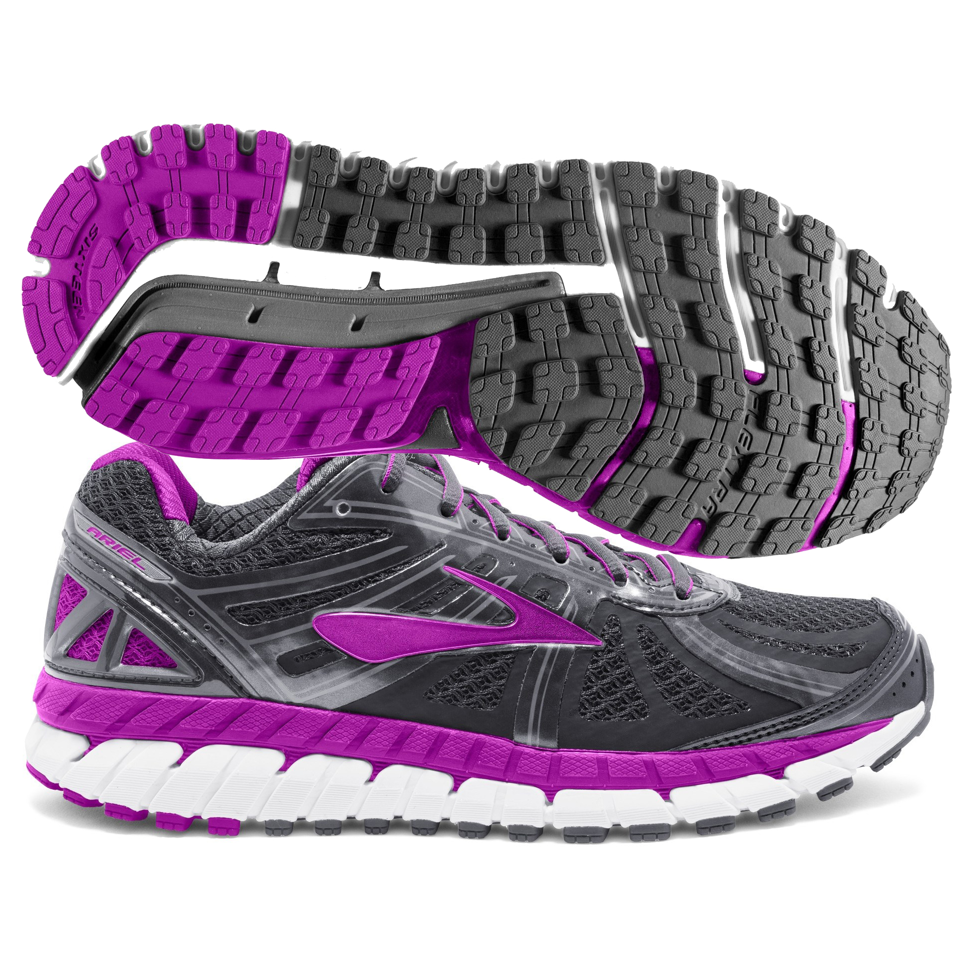 b30304c1b8700 Brooks Ariel 16 Women s Anthracite Purple Grey