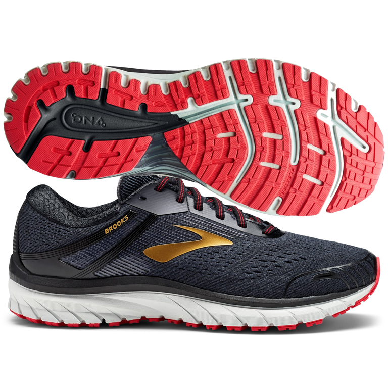 92b5371367b Brooks Adrenaline GTS 18 Men s Black Gold Red