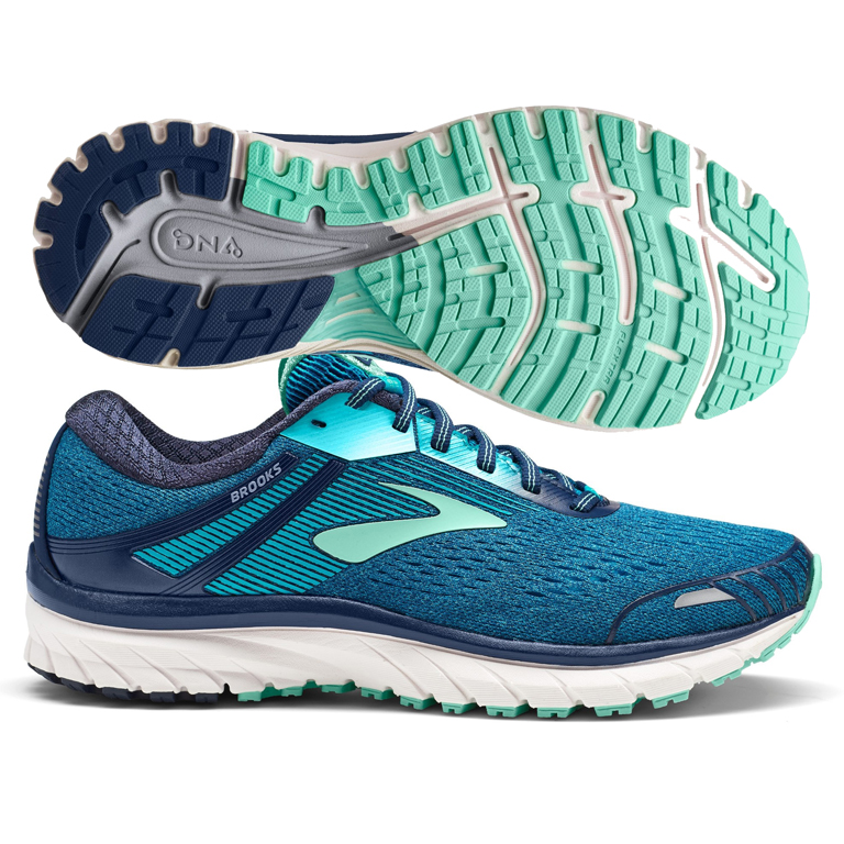 huge selection of ed88a 1dd97 Brooks Adrenaline GTS 18 Women's Navy/Teal/Mint