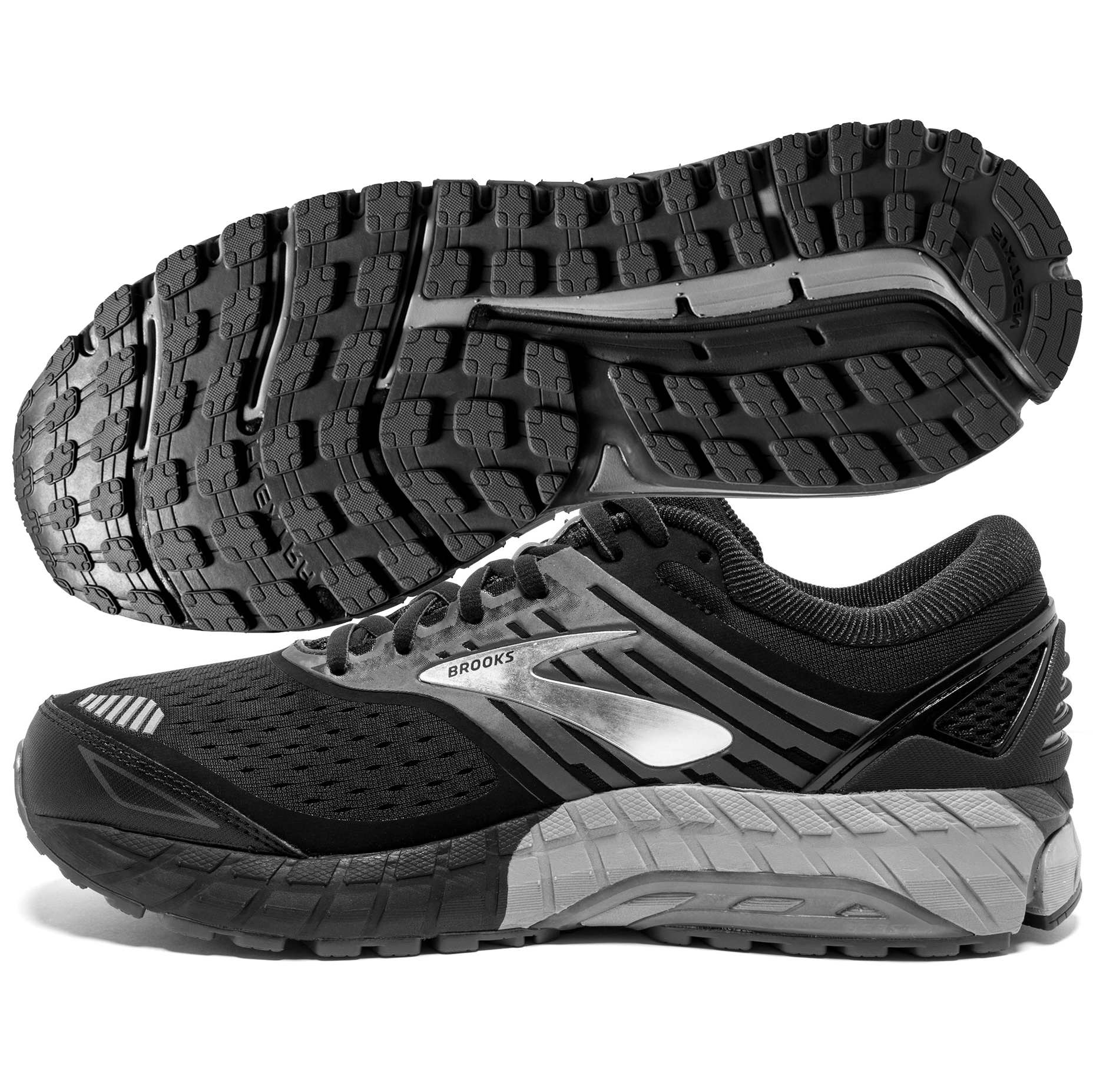 ae8bd8913e8 Brooks Beast 18 Men s Black Grey Silver