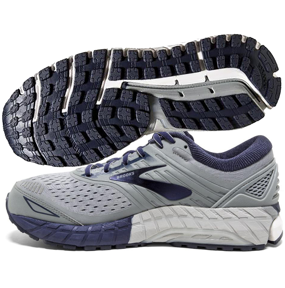 00fa58cdcb6 Brooks Beast 18 Men s Grey Navy White