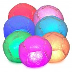 Disco Glow in the dark footbag