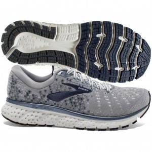 Brooks Glycerin 17 Mens Grey Navy White