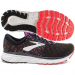 Brooks Glycerin 17 Women's Black Fiery Coral Purple