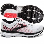 Brooks Ghost 13 womens white pink black
